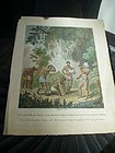 18tc English  Engraving Caribbean Chief with Five Wives