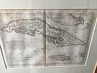 French 18thc Map of Cuba & Jamaica  Dtd Sgnd by Bonne
